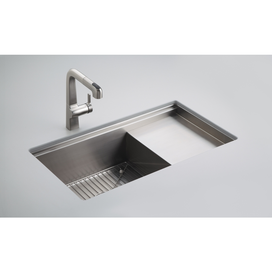 Kohler Stages 33 In X 185 In Stainless Steel Single Basin Drop In