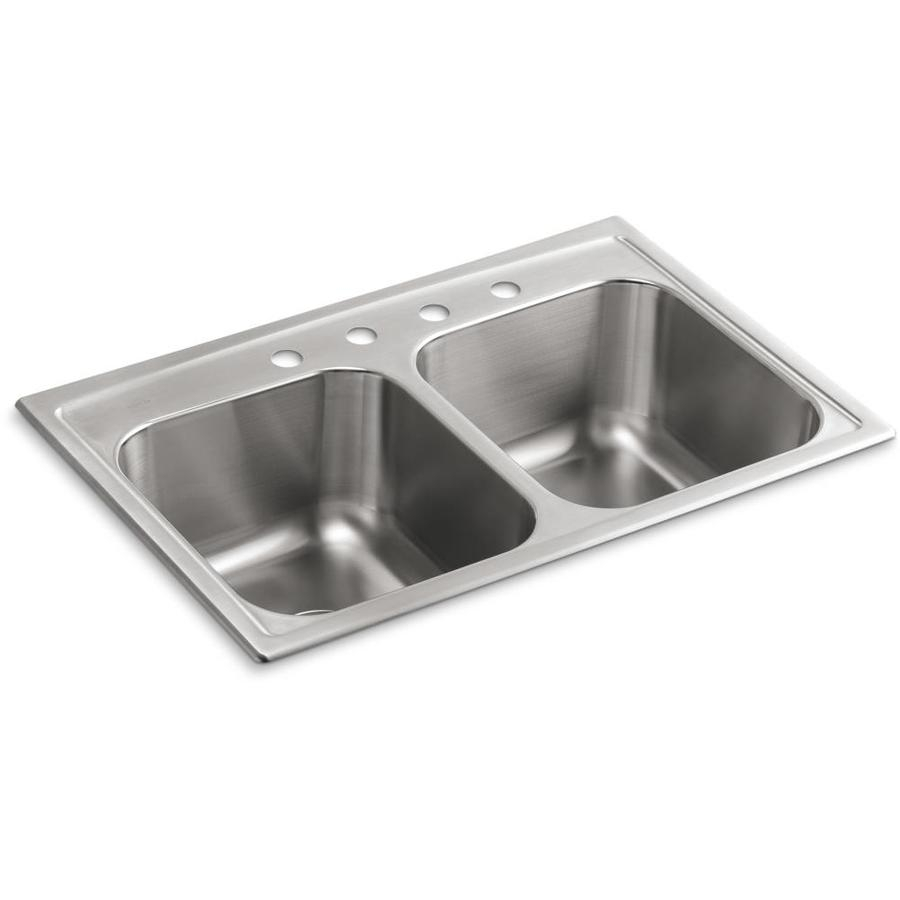 Kohler Toccata 33 In X 22 In Stainless Steel Double Basin Drop In 4