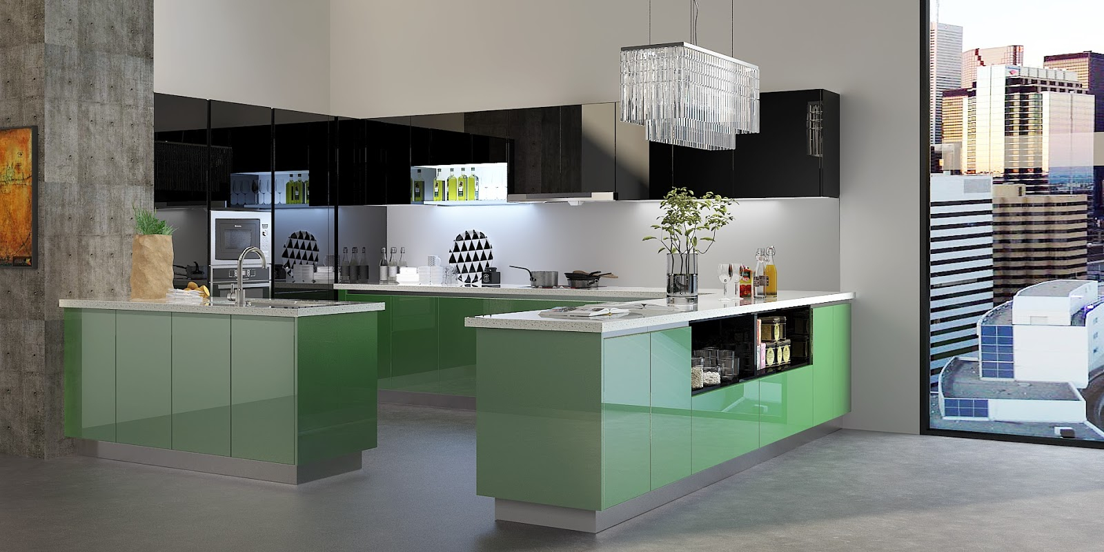Lacquer Kitchen Cabinet Hits Africa