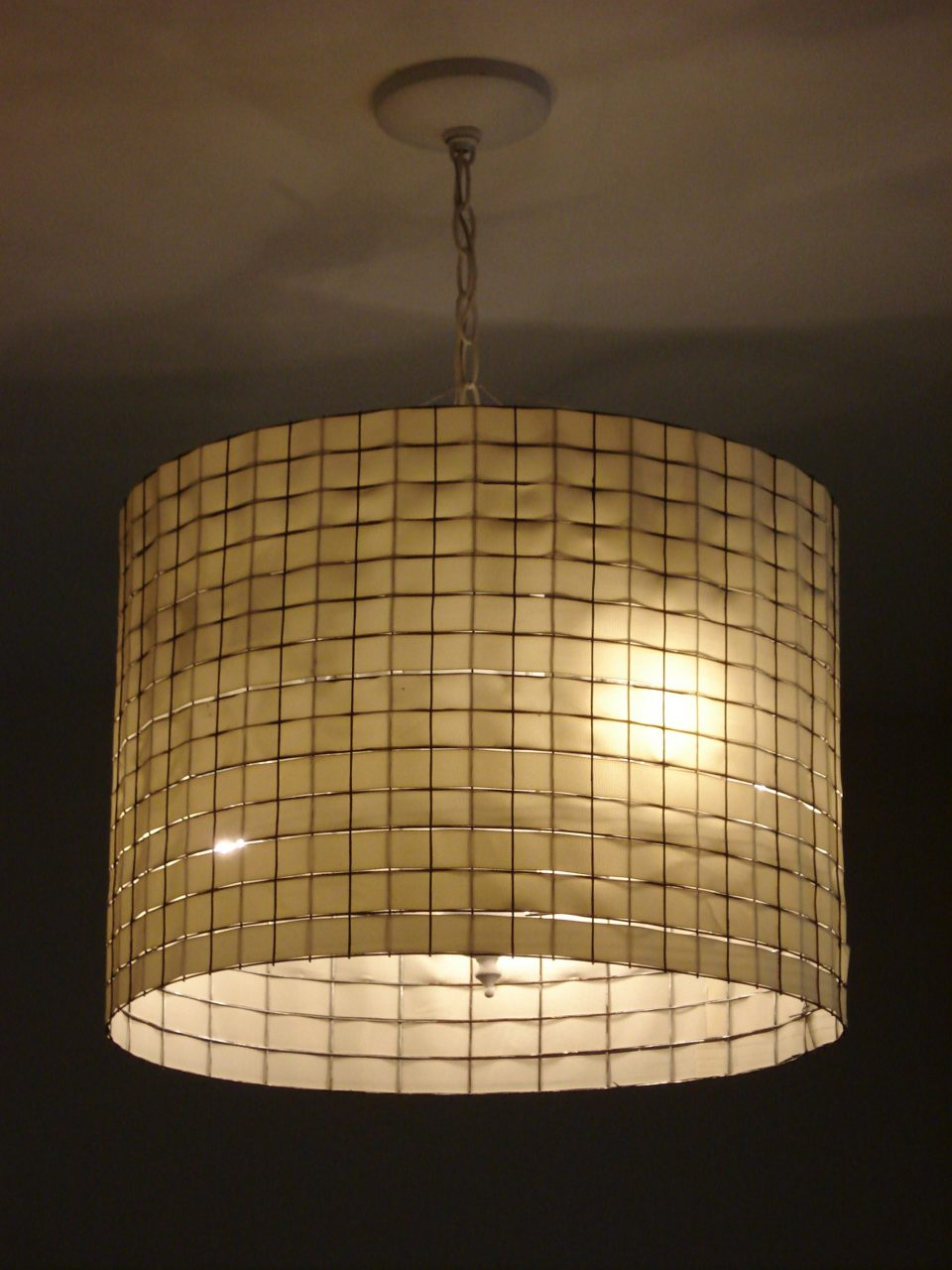 Lamp Shade Chicken Wire And Ribbon Actually I Think Thats