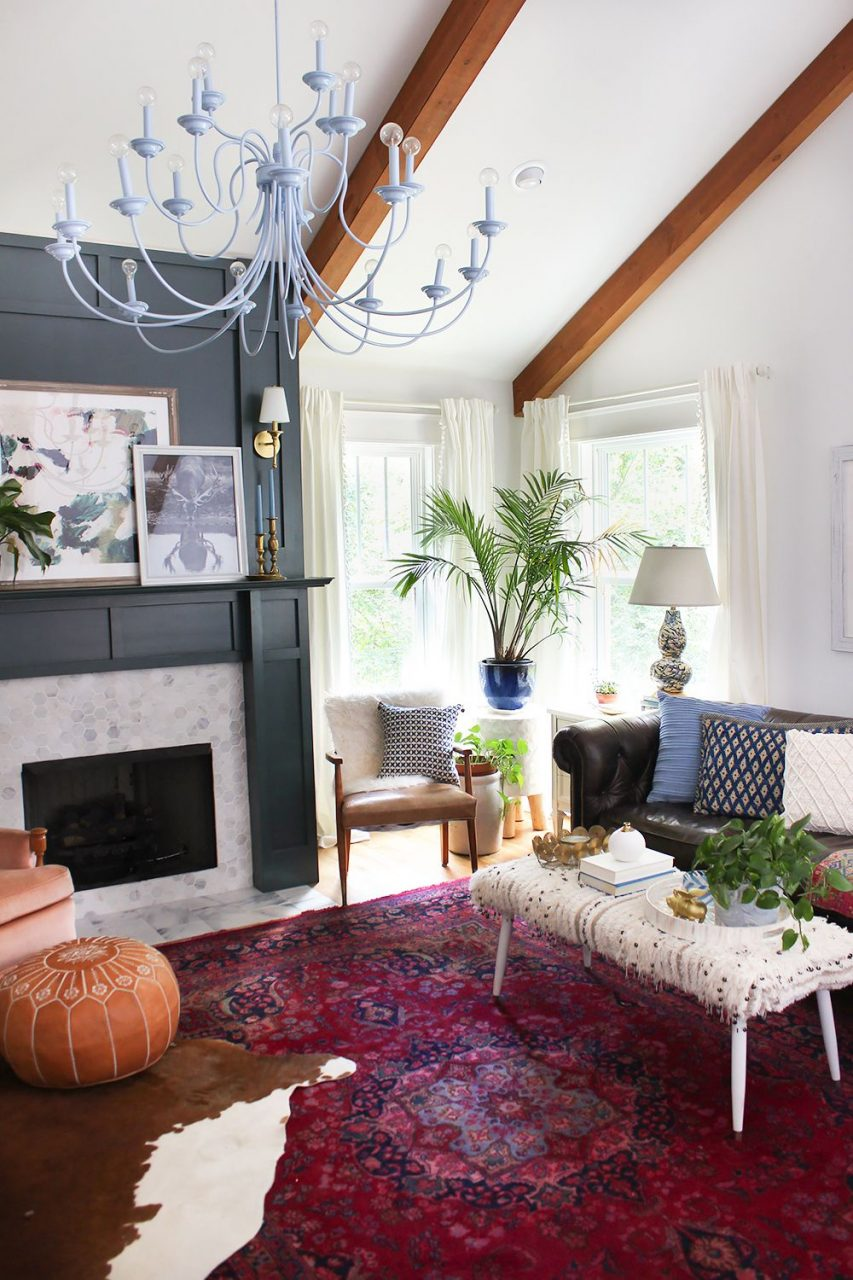 Layered Living Room Reveal Charmed Spaces Rugs In Living Room