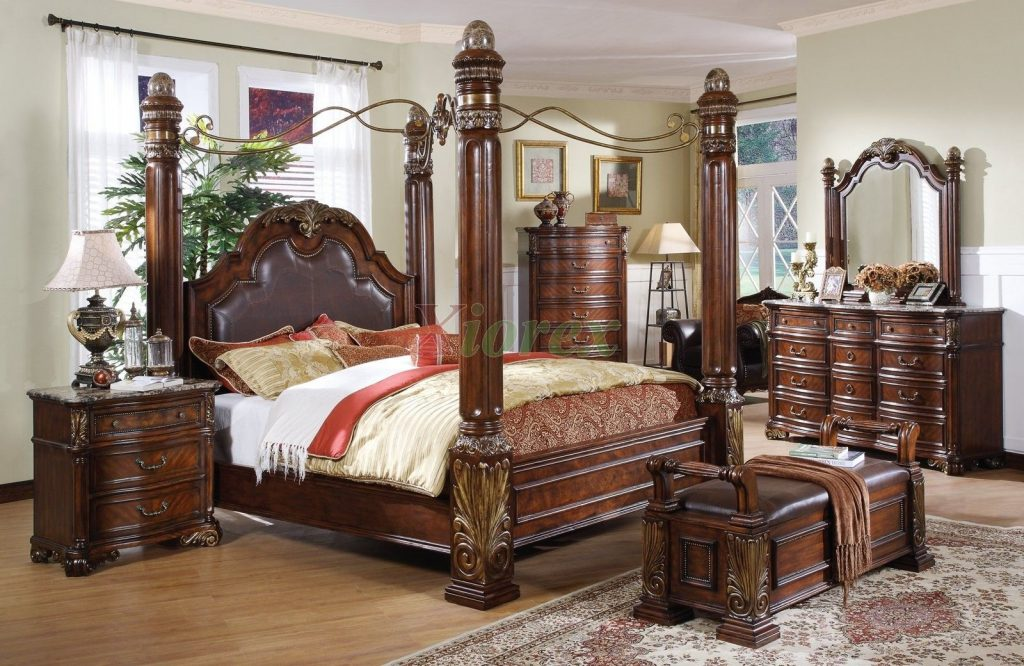 Leather Headboard Post Bed With A Metal Canopy I Like How Sturdy