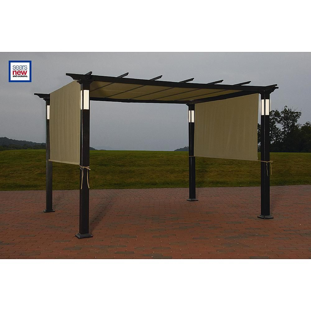 Led Lighted Pergola Classic Sun Shade And Evening Shelter From