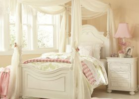 Antique White Canopy Bedroom Sets