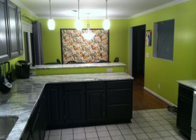 Black and Lime Green Kitchen