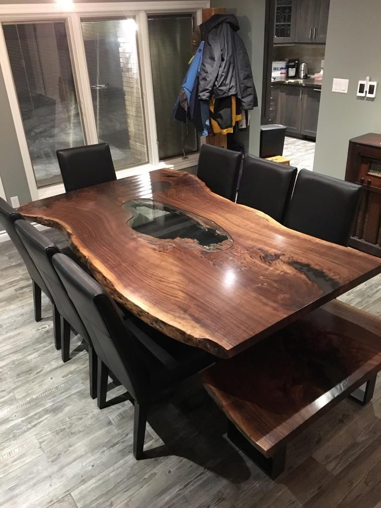 Live Edge Table Single Slab Table Mappa Table Burl Table Wood