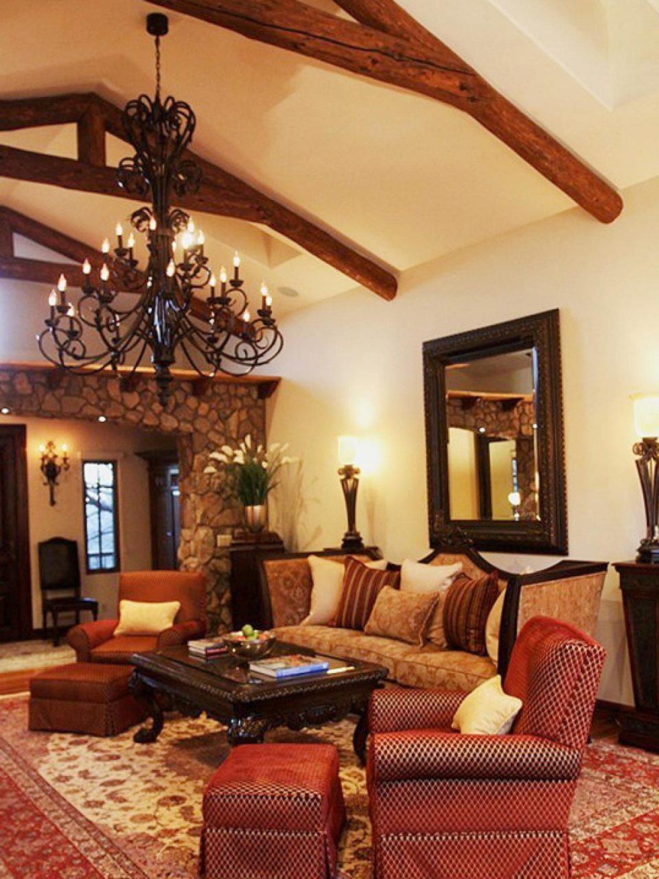 Living Room In Spanish Style Design Homesfeed Mattressxpressco