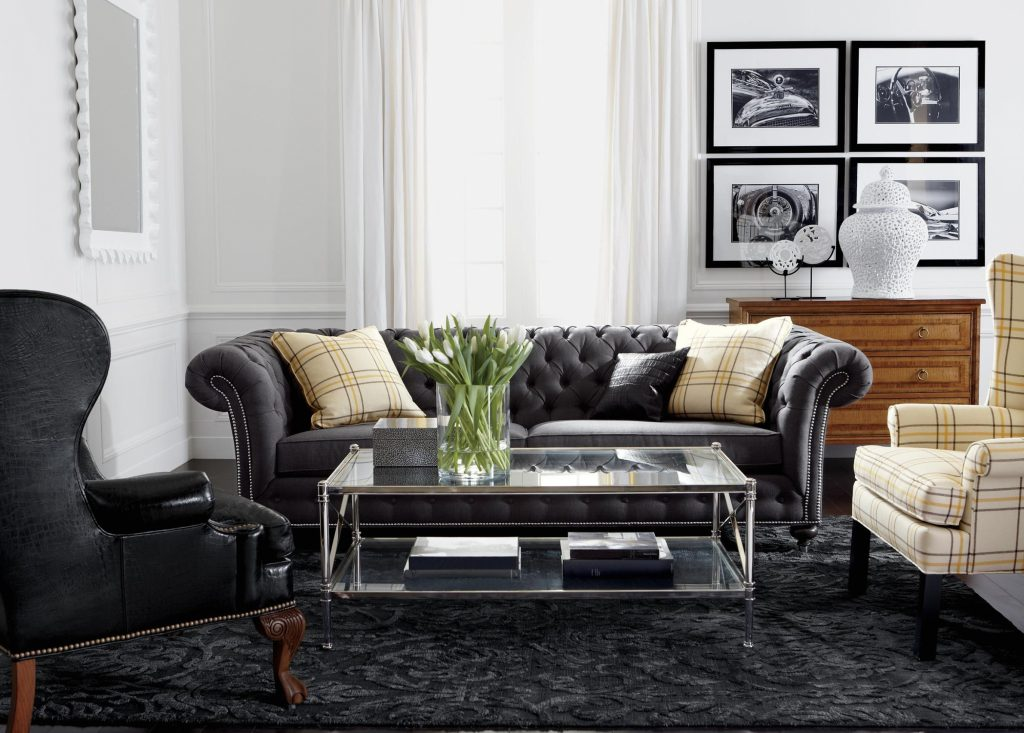 Living Room Like The Plaid Wingback And Overall Feel Masculine But