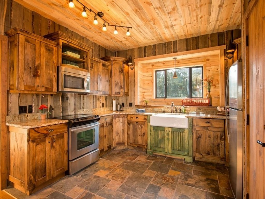 Log Cabin Kitchen Ideas 15 Cabins And Cottages In 2018 Pinterest