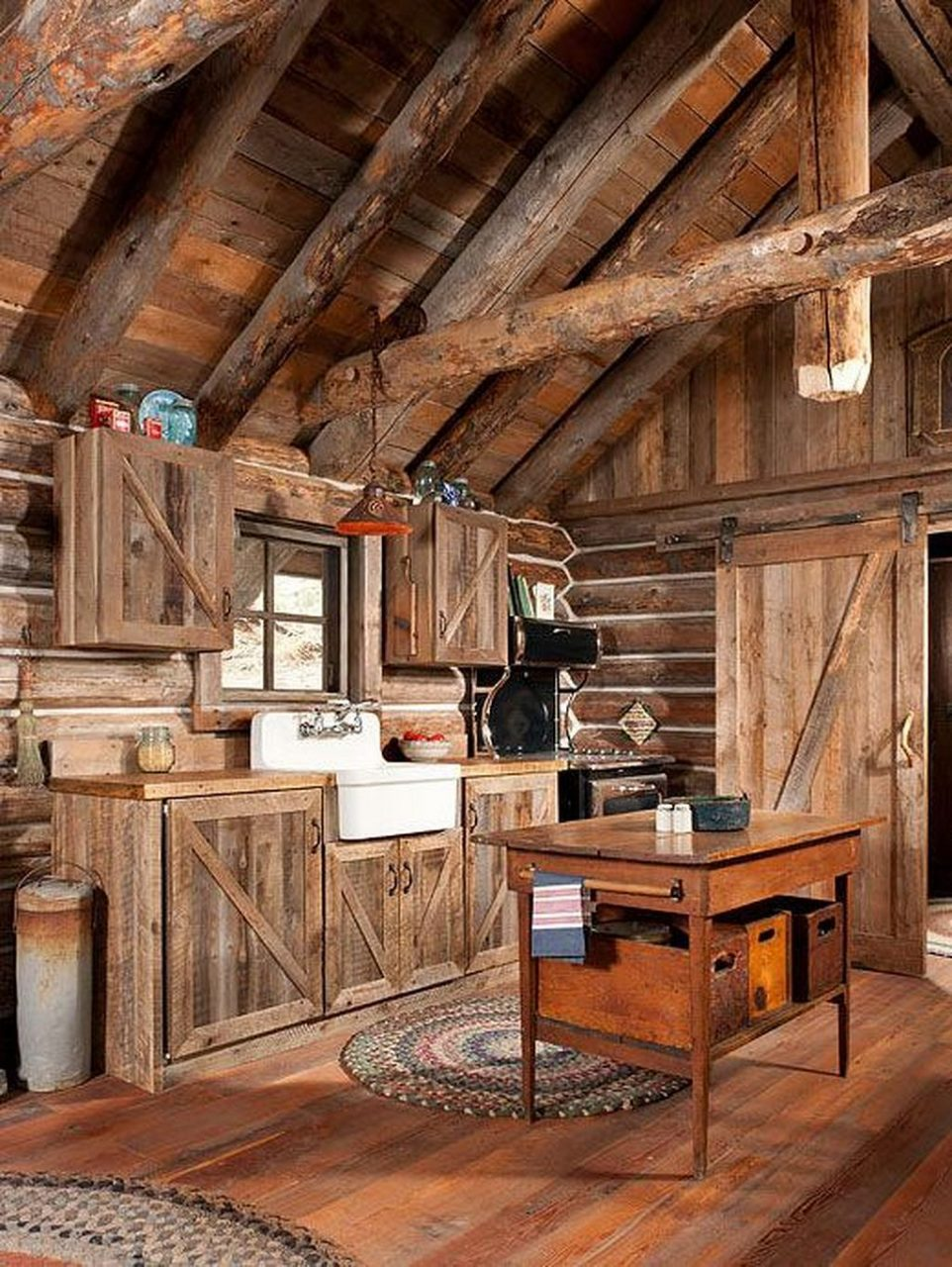 Log Cabin Kitchen Ideas 37 Winter Cabin Pinterest Cabin