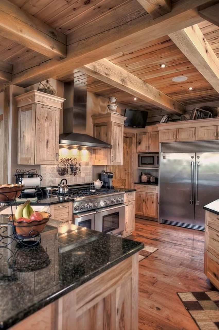 Log Cabin Kitchen Ideas 42 Home Cabin Kitchens Rustic Kitchen