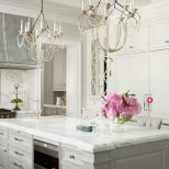 Love This Kitchen Silver Hood Bluegrey Island To Off Set The