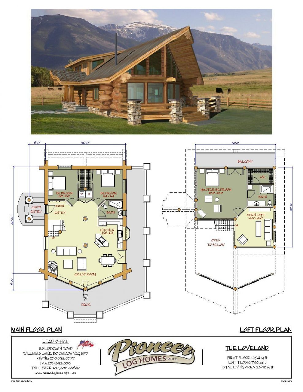 Loveland Pioneer Log Homes Midwest Barn House Barndominium