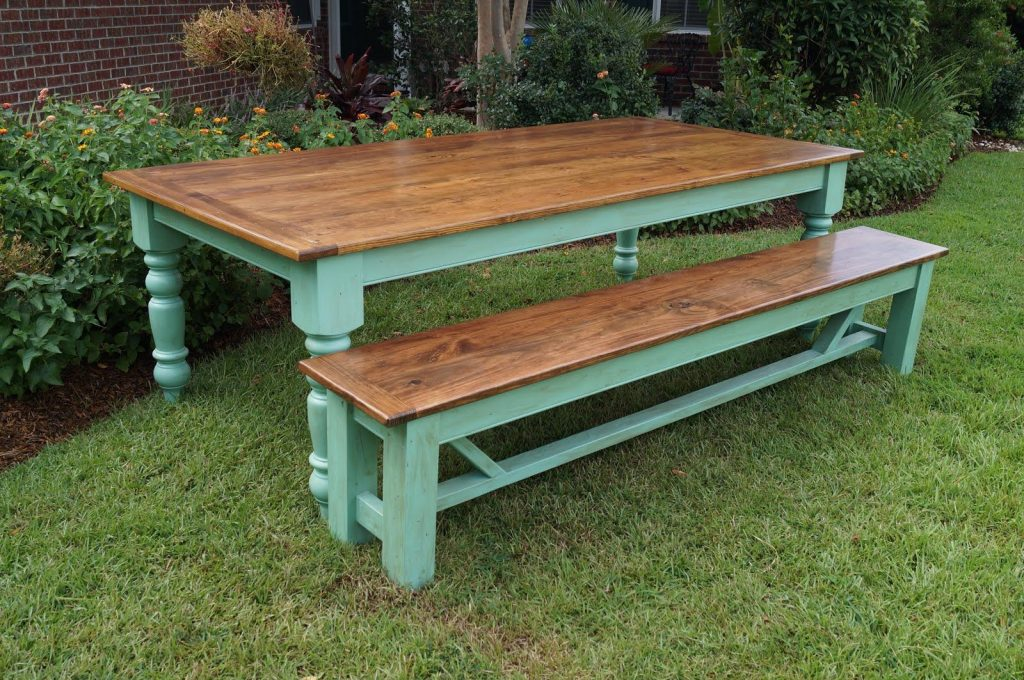 Low Country Farm Table 8ft X 4ft W 5 Legs Farmhouse Table