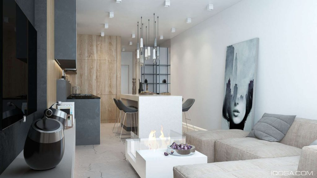 Luxury Small Studio Apartment Design Combined Modern And Minimalist