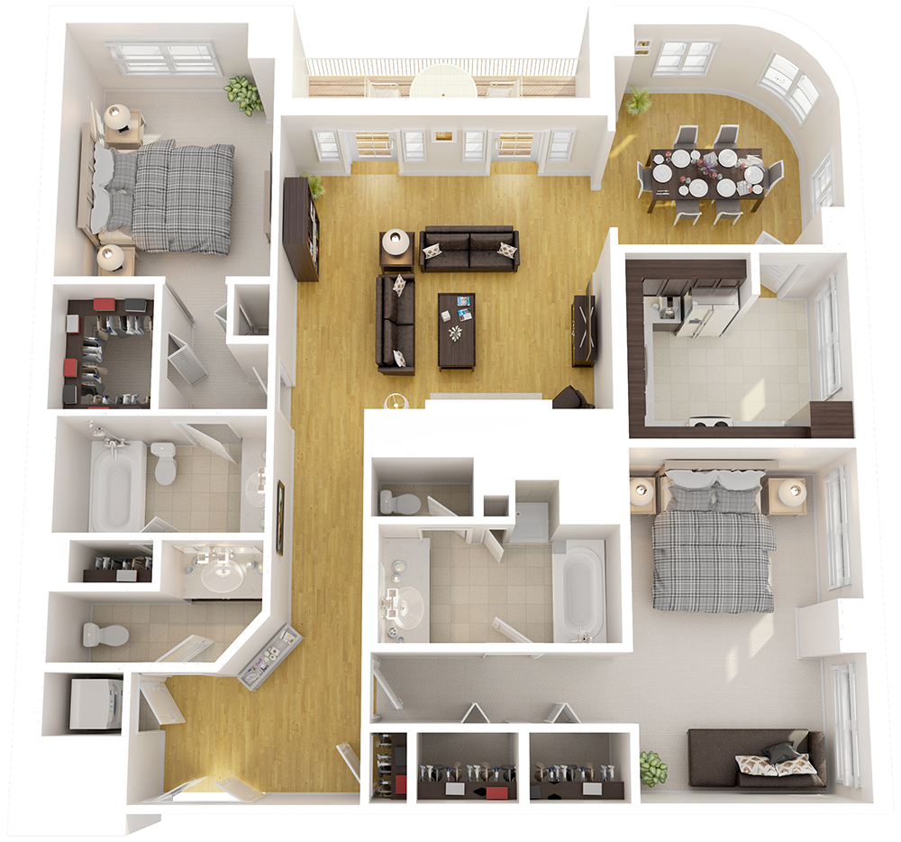 Luxury Two Bedroom Apartments Luxury Home Design And Decorating Ideas