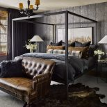 Masculine Bedroom With Charcoal And Leather Bedroom In 2019