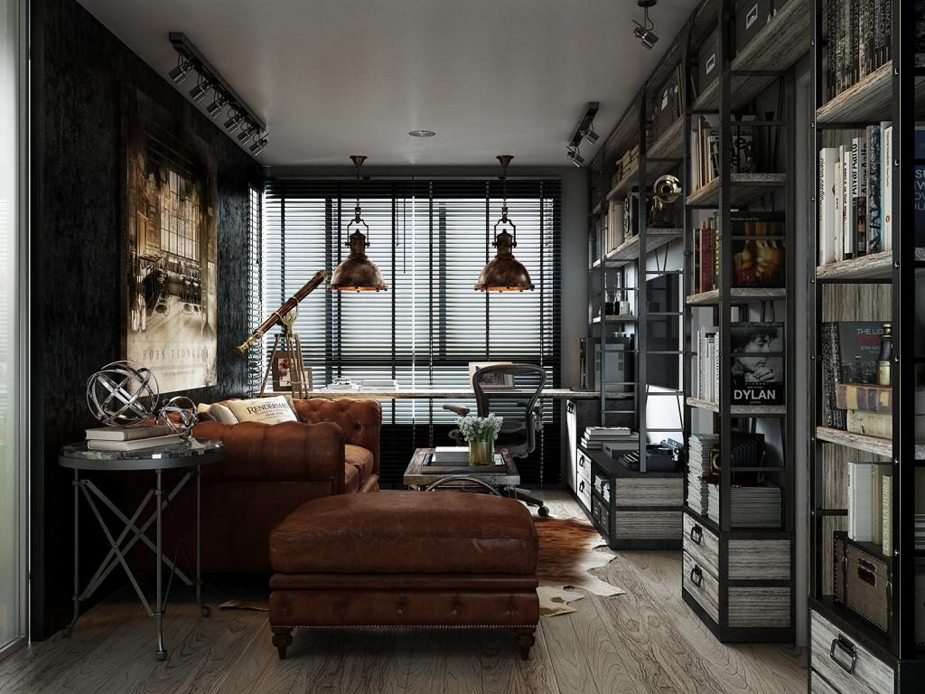 Masculine Industrial Style For The Modern Man
