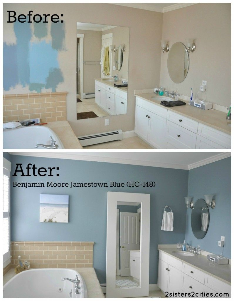 Master Bathroom Paint Color Reveal Hime Sweet Hime Bathroom