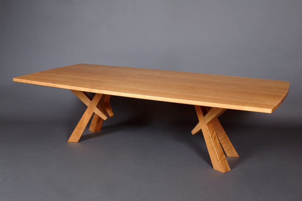 Maxs Dining Table Solid Cherry Wood Dining Table Seth Rolland