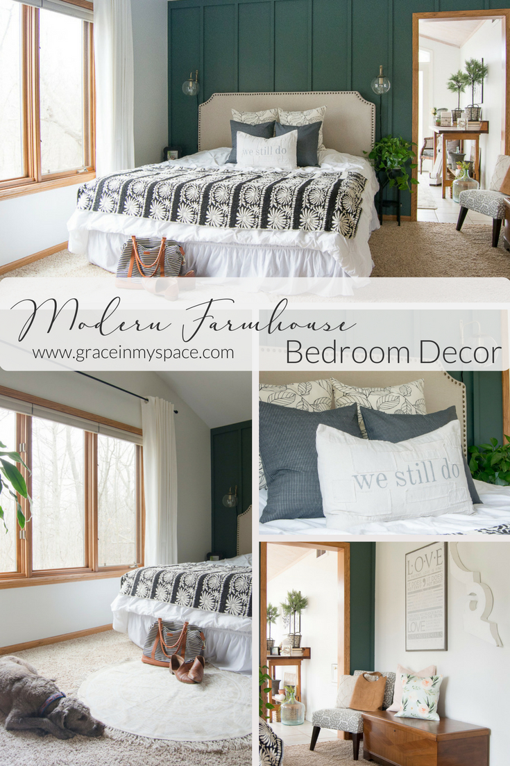 Modern Farmhouse Bedroom Decor Finishing Touches Grace In My Space