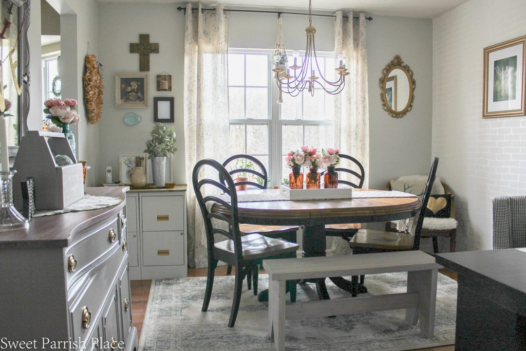 Modern Farmhouse Dining Roomoffice Reveal 100 Room Challenge