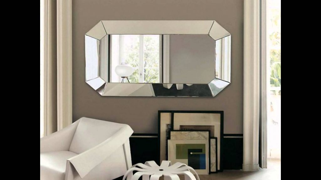 Modern Living Room Wall Mirrors Wall Decor For Dining Room Intended