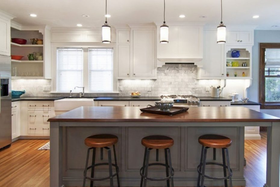 Modern Low Mini Pendant Lights Over Kitchen Island Music Together