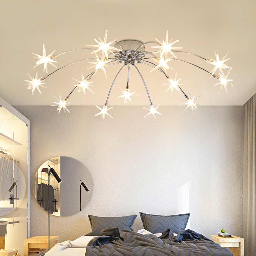 Modern Minimalist Ceiling Lamps Living Room Romantic Childs Bedroom