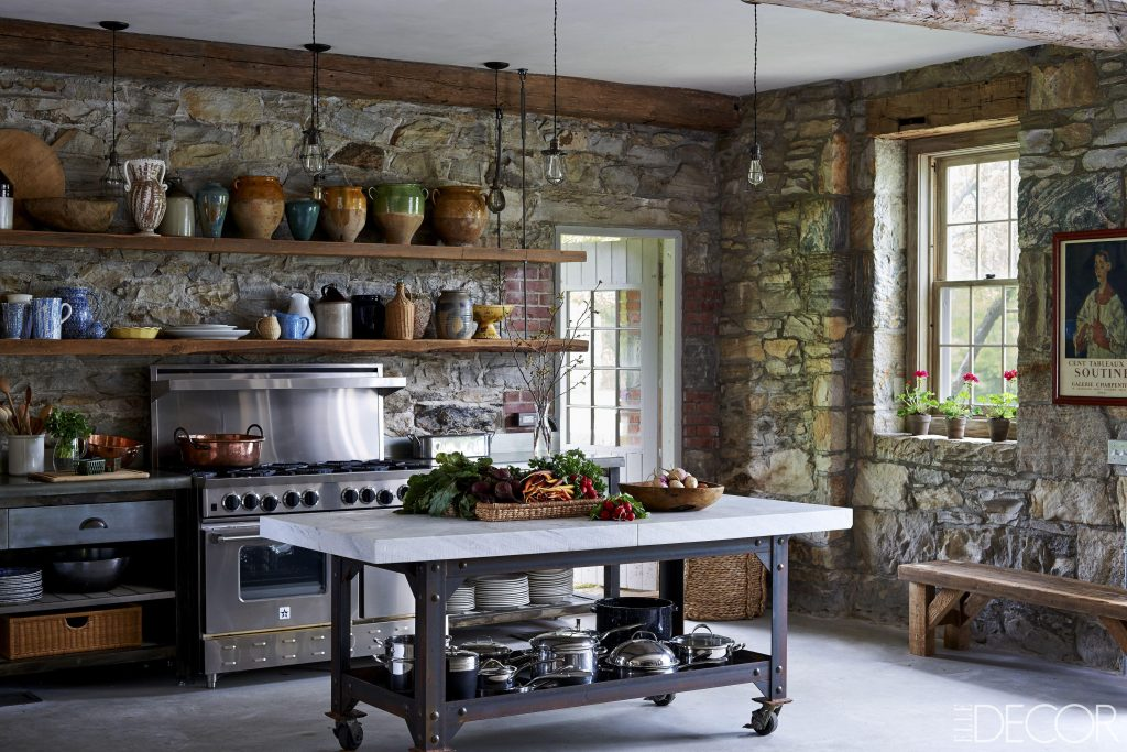 Modern Rustic Kitchen White Cabinets Decor Ideas Country Kitchens