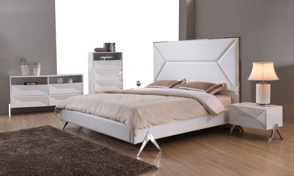 Modrest Candid Modern White Bedroom Set Modern Bedroom Bedroom