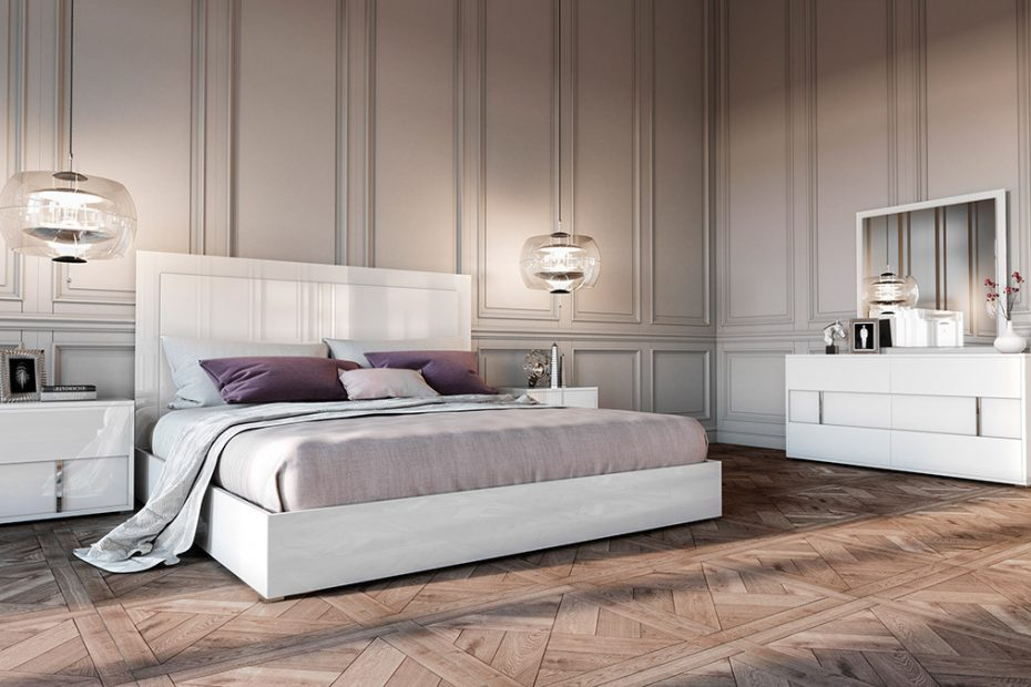 Modrest Nicla Italian Modern White Bedroom Set