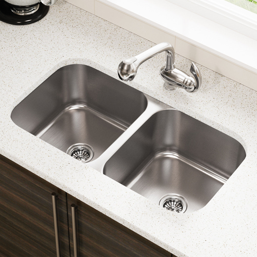 Mrdirect Stainless Steel 32 X 18 Double Basin Undermount Kitchen