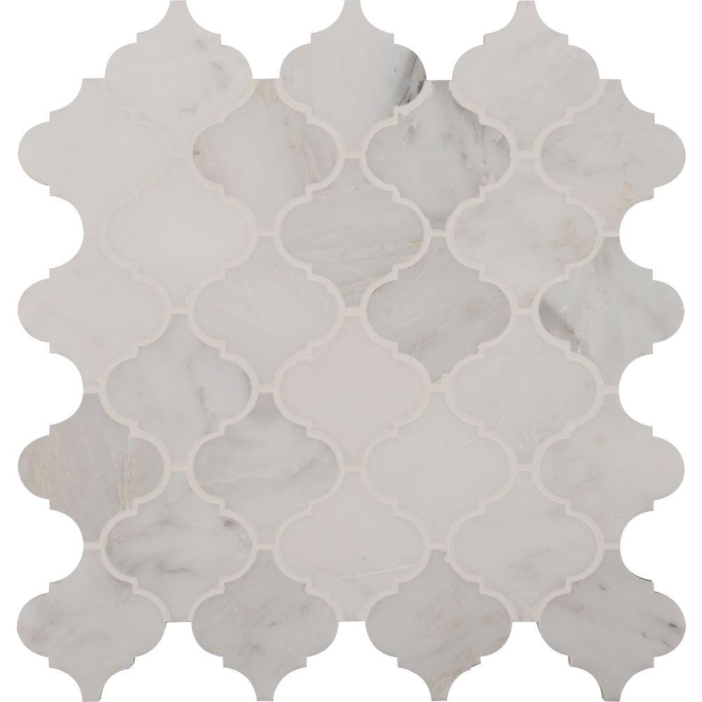 Msi Greecian White Arabesque 12 In X 12 In X 10mm Polished Marble