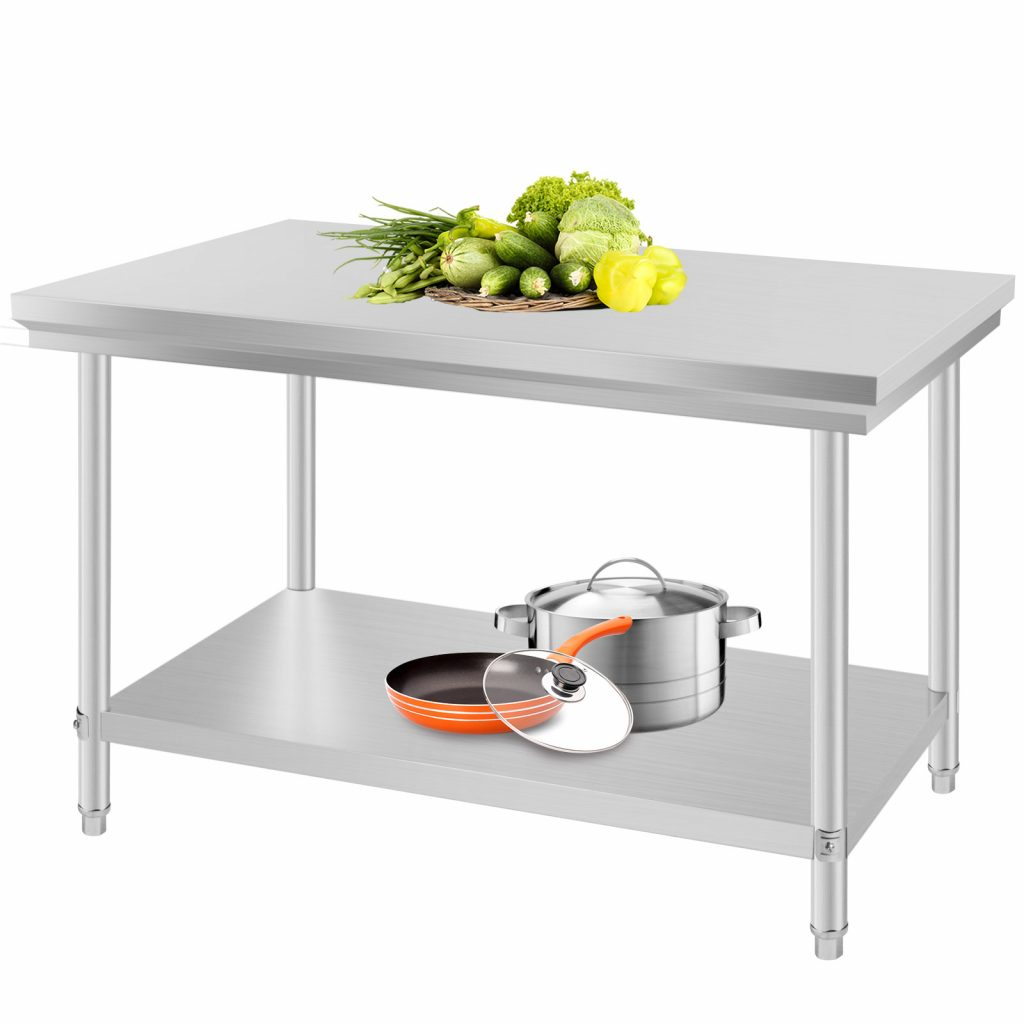 New Stainless Steel Kitchen Restaurant Work Bench Food 4 Person