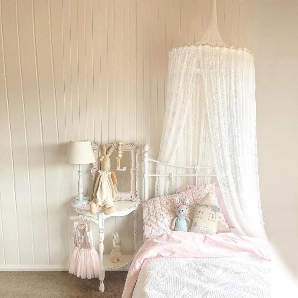 Nordic Lace Ba Princess Dome Canopy Bed Curtains Round Room