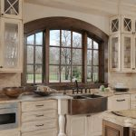 White Kitchen Cabinets with Copper Sink
