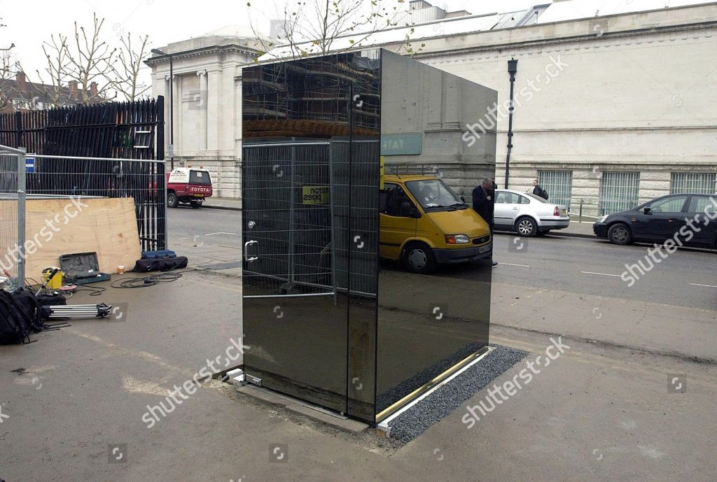 One Way Glass Cube Sculpture Containing Fully Stock Photo 438187f
