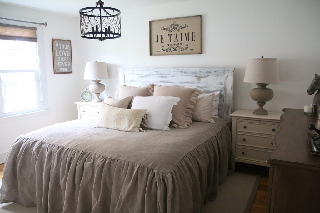 Our Rustic French Farmhouse Master Bedroom With Raymour And Flanigan