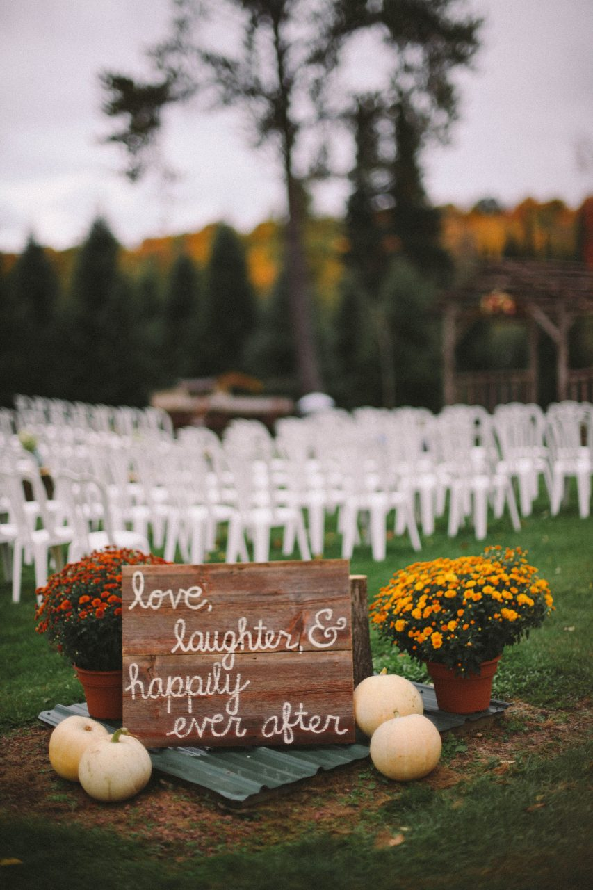 Outdoor Fall Rustic Wedding When I Steal His Last Name