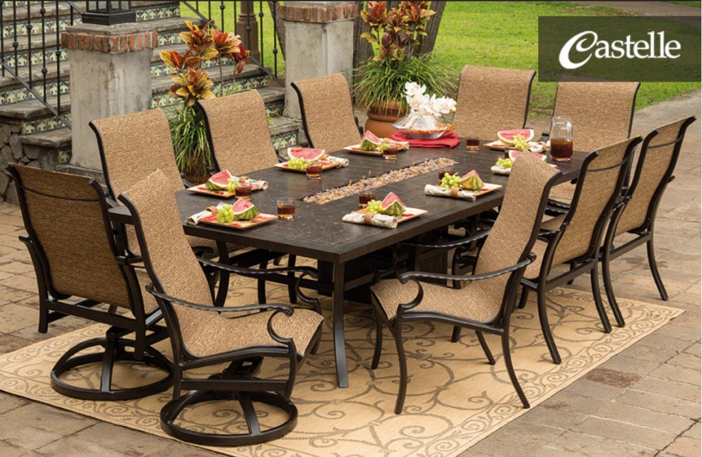 Outdoor Garden Skillful Patio Dining Table With Fire Pit Outdoor