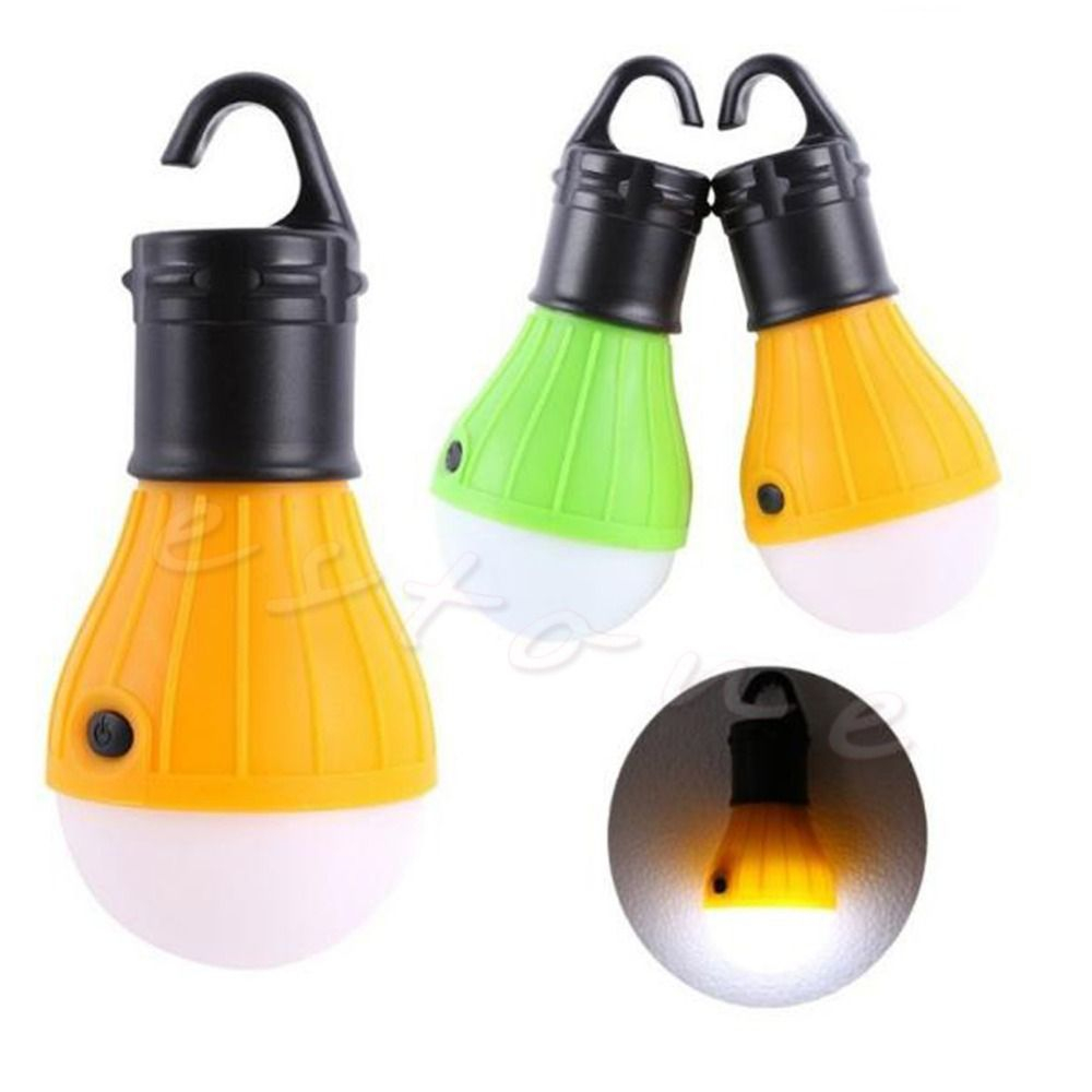 Outdoor Hanging Led Camping Tent Light Bulb Fishing Lantern 3x Led