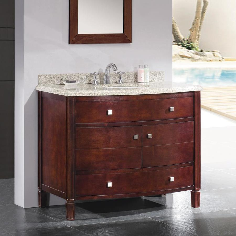 Ove Decors Georgia 42 In Tobacco Single Sink Bathroom Vanity With