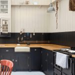 Dark Painted Kitchen Cabinets