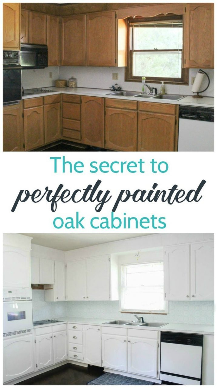 Painting Oak Cabinets White An Amazing Transformation Lovely Etc