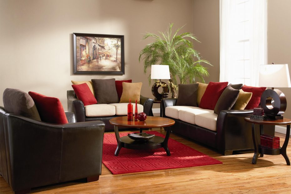 Red And Brown Living Room Decorating Ideas Layjao