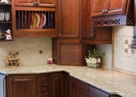 Cherry Walnut Kitchen Cabinets
