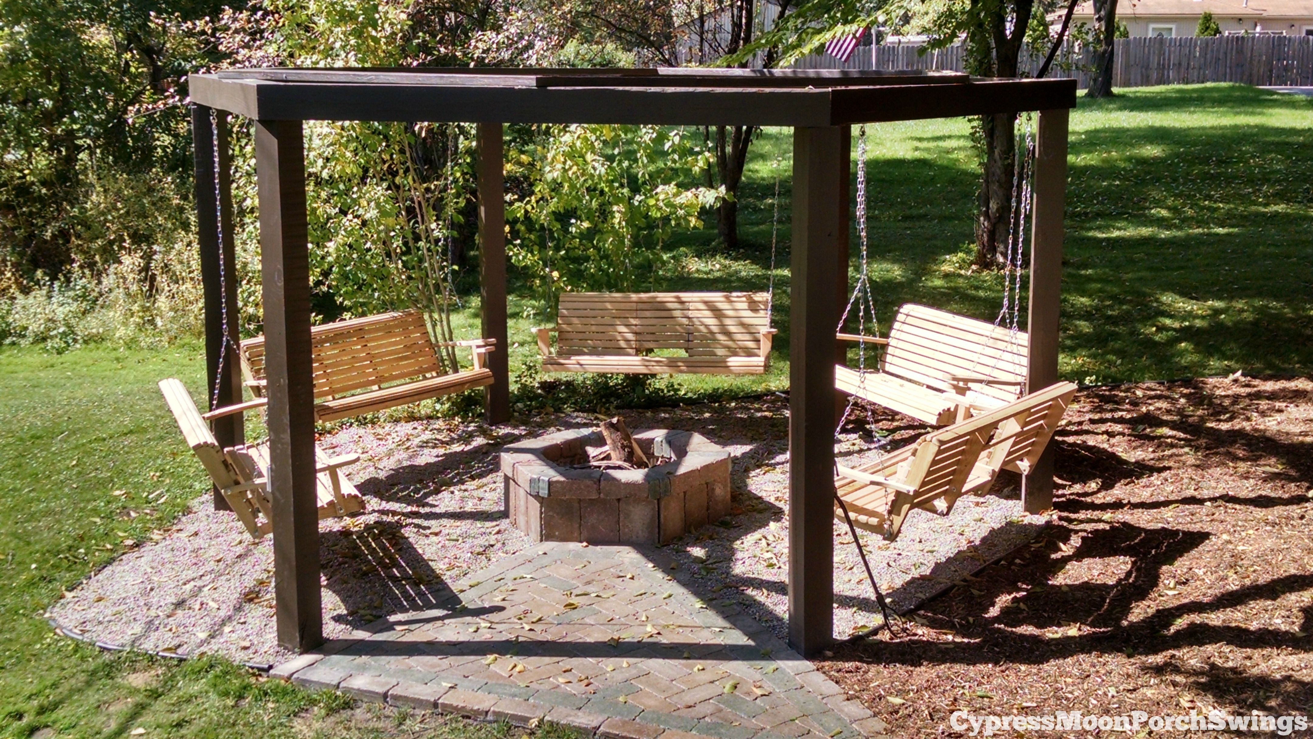 Image of: 63 Wooden Swing Fire Pit Pictures