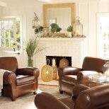 Pottery Barn Living Room Ideas With Chocolate Leather Chairs Before