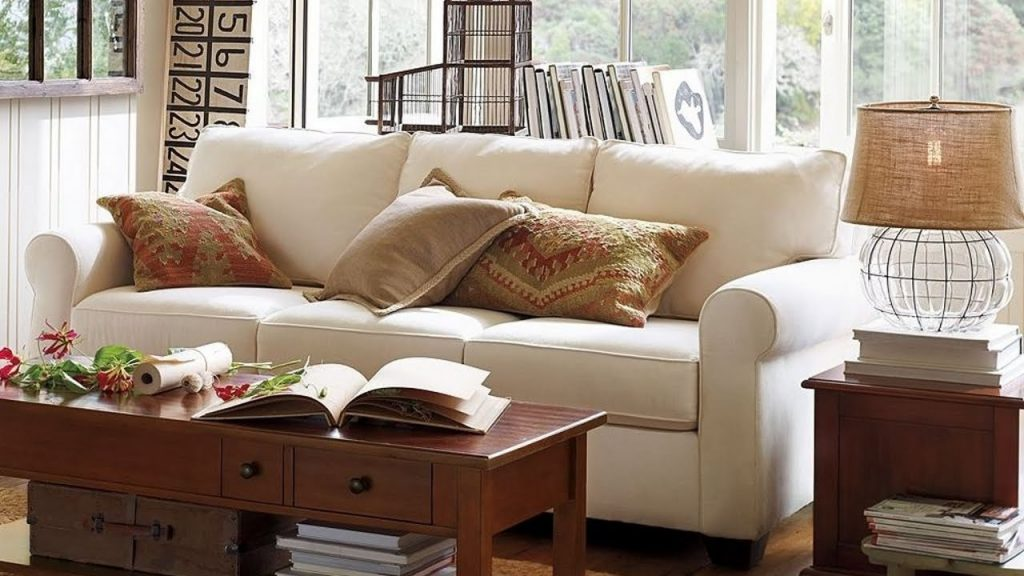 Pottery Barn Living Room Sofas With A Vintage Touch Youtube